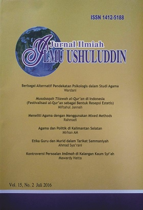 Jurnal Ilmiah Ilmu Ushuluddin is an Open Access Journal about Islamic Thought and Religious Studies