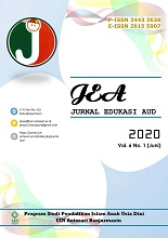 JEA (Jurnal Edukasi AUD)): JEA is an Open Access journal containing research articles in the field of Early Childhood Education. JEA: receive articles in Indonesian, English and Arabic.